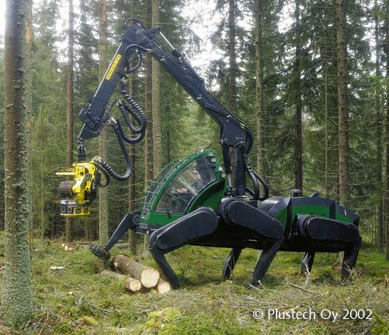 walking forestry machine