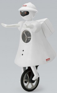 MurataSeiko-chan (Murata Girl) robot rides unicycle --
